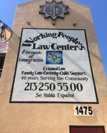 Working Peoples Law Center in Los Angeles